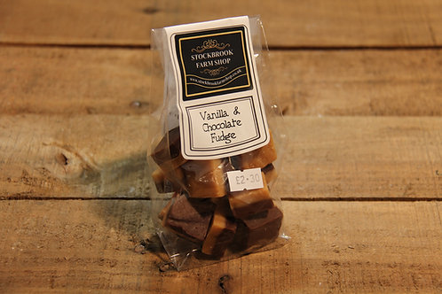 Stockbrook Farm Vanilla & Chocolate Fudge 140g