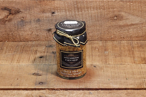 Stockbrook Farm Shop Beer & Black Peppercorn Mustard 175g