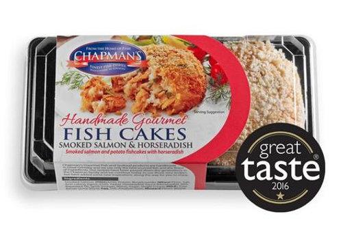 Chapman Smoked Salmon with Horseradish Fish Cakes