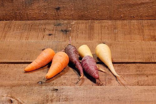 Chanteney Tri-colour carrots (500 grams bag)