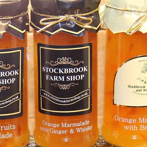 Stockbrook Farm Shop Orange & Ginger Whiskey Marmalade 340g