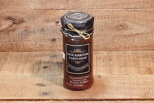 Stockbrook Farm Shop Caramelised Onion with Bourbon  Chutney 280g