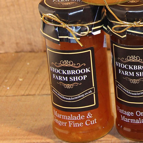 Stockbrook Farm Shop Ginger Fine Cut Marmalade 340g