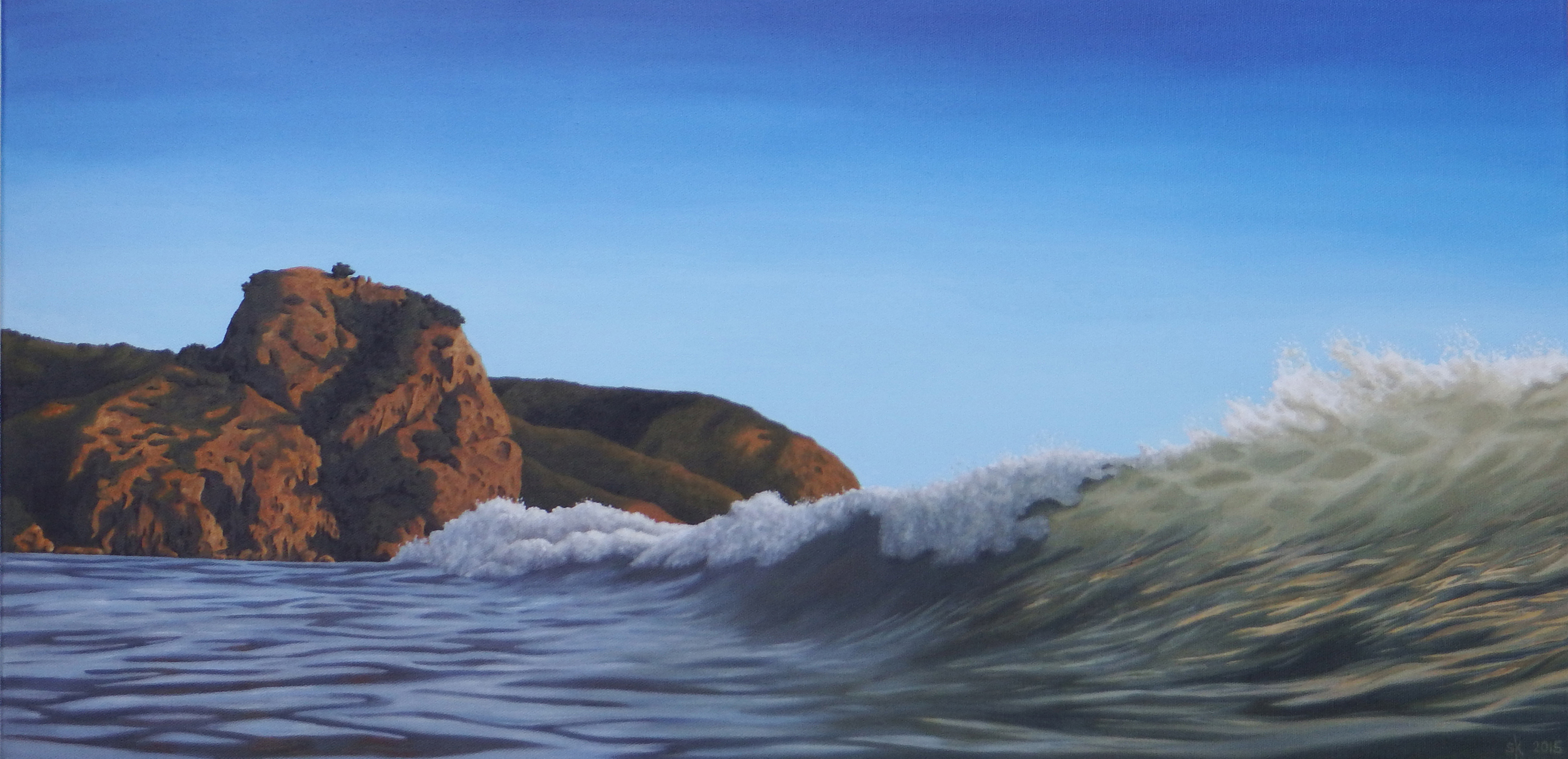 Evening Surf Lion Rock 76x38