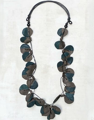 Reagan Double Strand Necklace - Teal