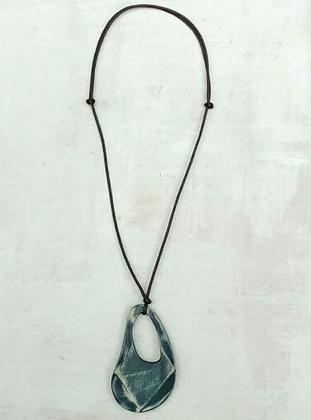 Teal Fleur Pendant Necklace