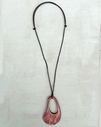Red Fleur Pendant Necklace