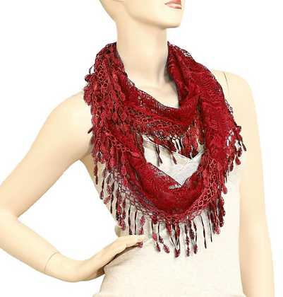 Red Spring Scarf