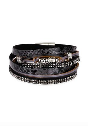 Carmelina Layered Leather Bracelet