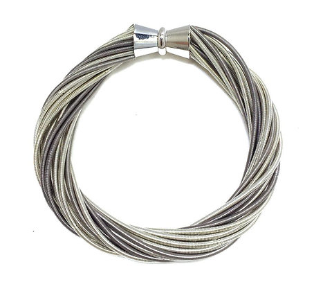 Laura Bracelet - Silver and Slate