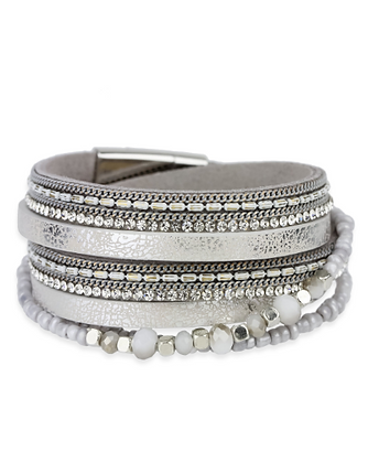 Gloria Double Wrap Leather Bracelet
