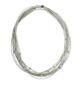 Lori Multi Strand Necklace - Silver