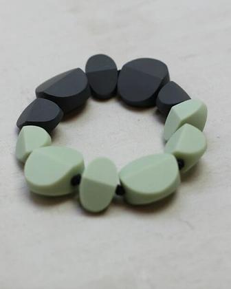 Black and Mint Elastic Bracelet