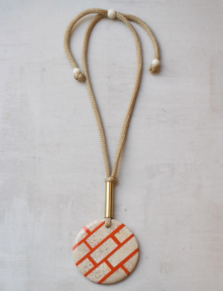 Lucia Orange Necklace
