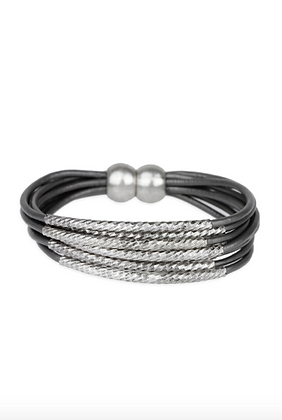 Twisted Tubes Bracelet - Grey