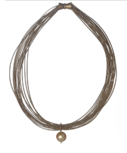 Lily Necklace - Bronze