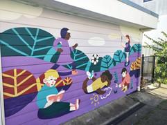 WAGEC mural