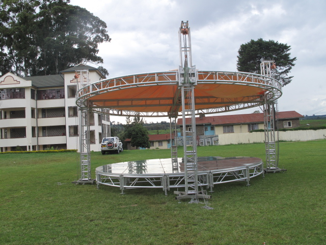 Circular Glass Stage
