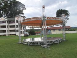 Circular Glass Stage