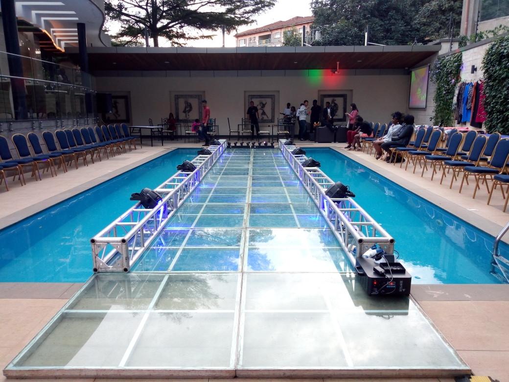 Glass Runway Over Pool