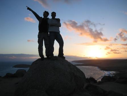 Men Pointing Forward