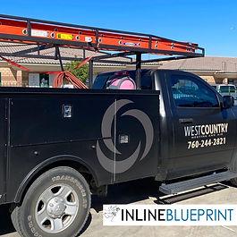 A partial vinyl vehicle wrap for a business