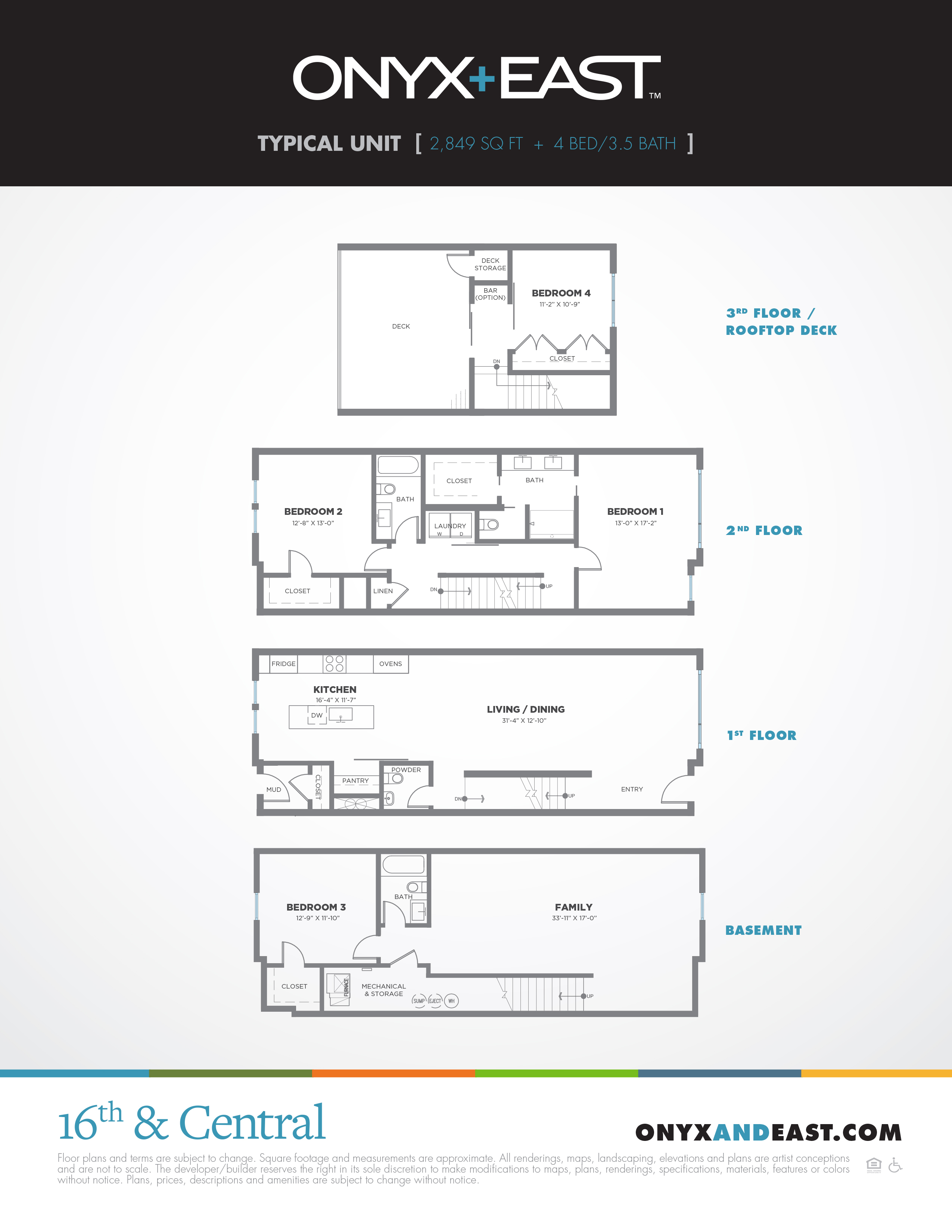 Onyx+East Floorplans