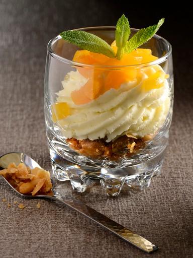 Verrine-apricots-dried fruits-mousse