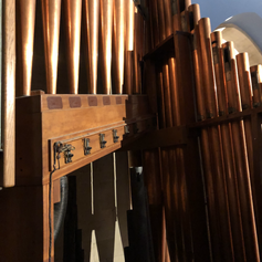West Organ - copper facade seen from the organ gallery