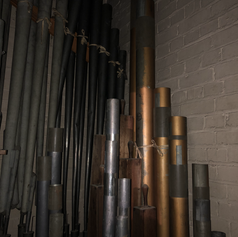 West Organ - Swell pipework