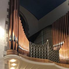 West Organ - copper facade