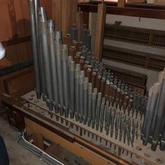 West Organ - Great pipework