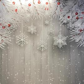 Snowflake Wood wall