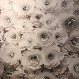 White 3D flowers
