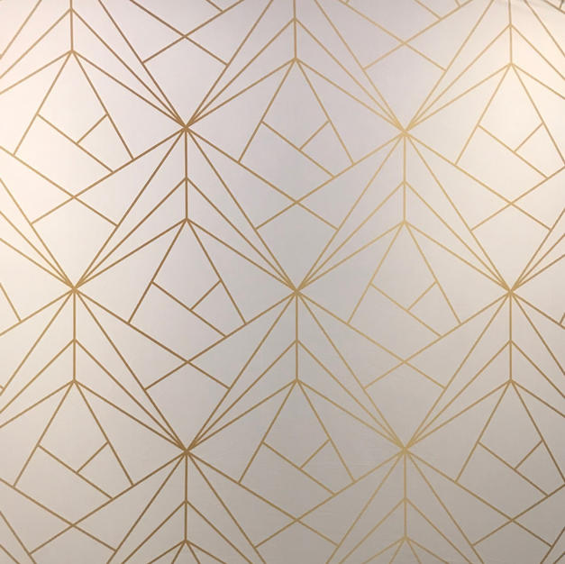 White & Gold Geometric