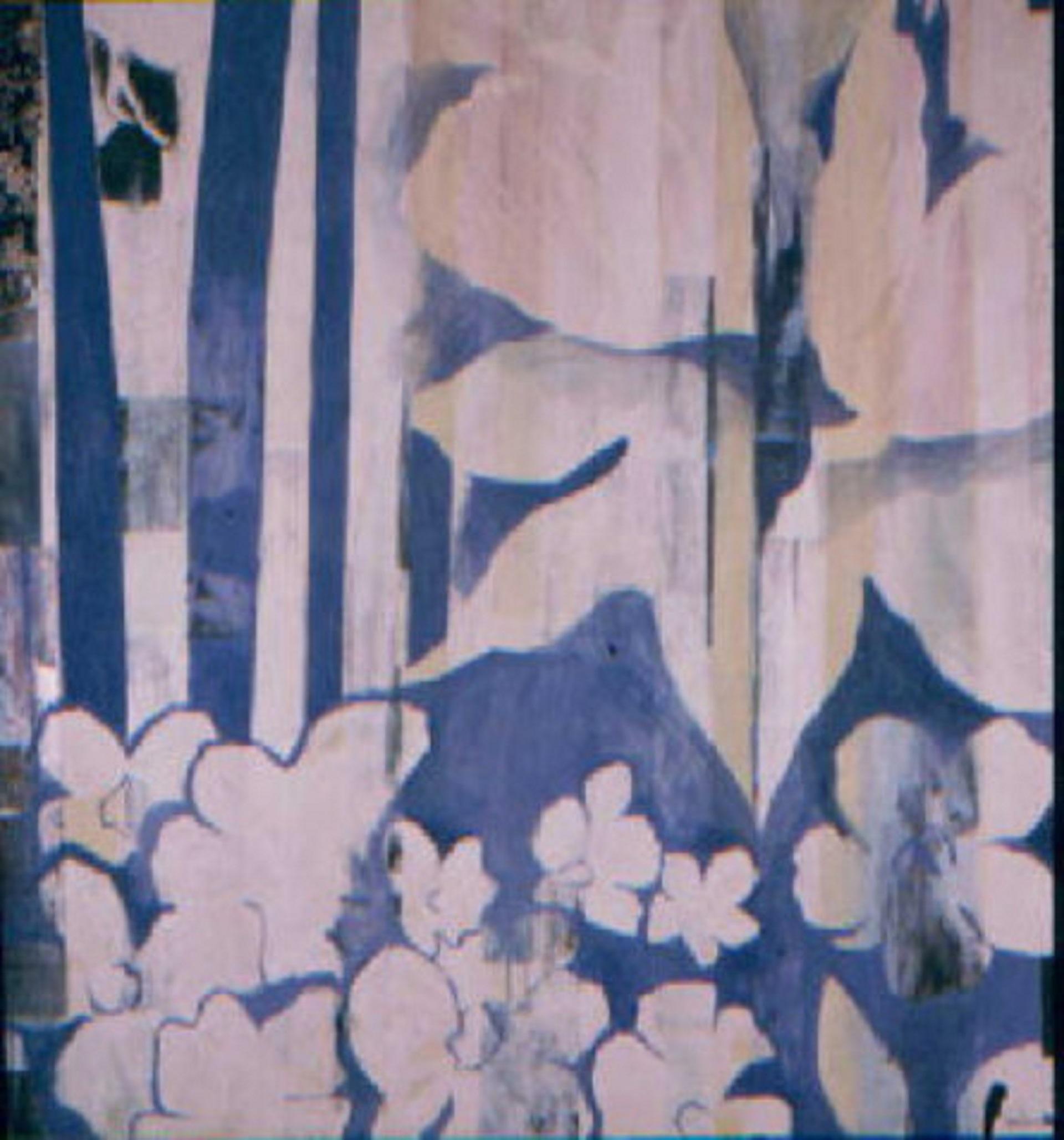 blue white stripe flora