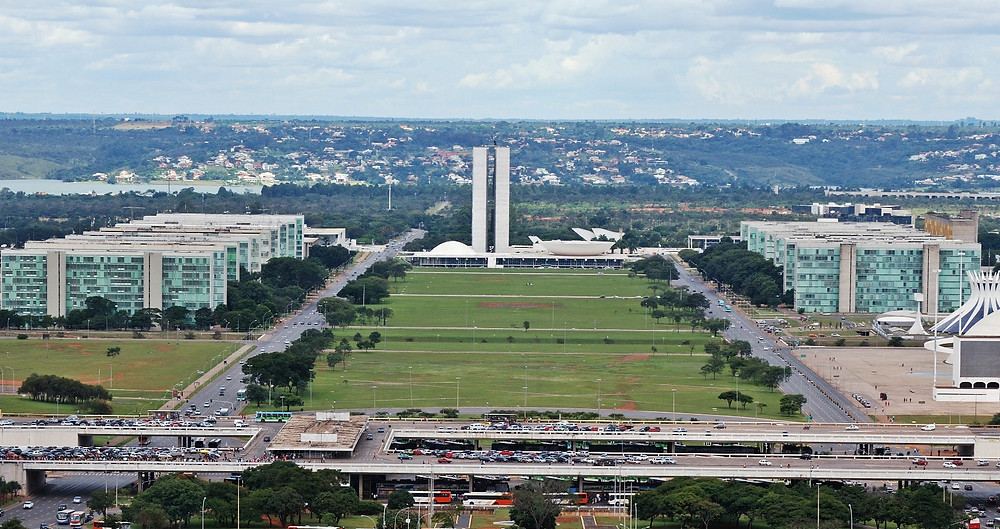 O eixo monumental de Brasília