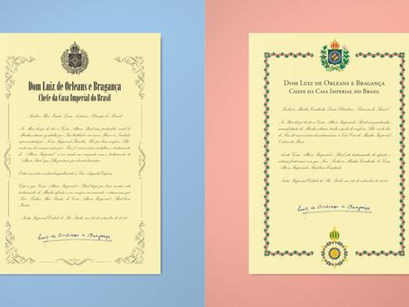 Chefe da Casa Imperial concede mercês aos Príncipes D. Antonio e D. Christine