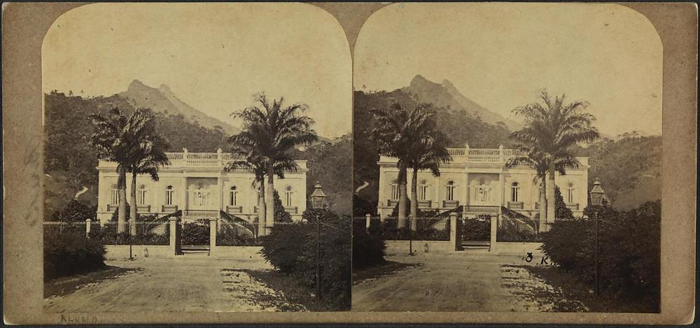 Fachada original do Paço Isabel (Reprodução/Biblioteca Nacional)