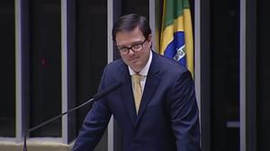 S.A.R. o Príncipe Dom Gabriel durante seu pronunciamento na Câmara dos Deputados