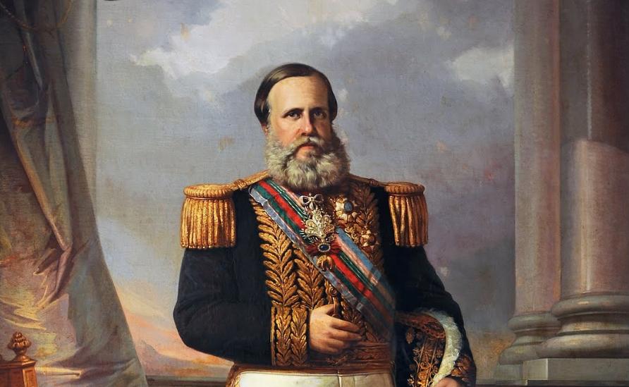 O Imperador Dom Pedro II do Brasil.