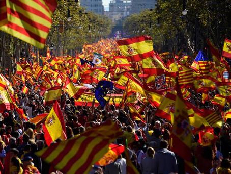 Marcha pela unidade da Espanha reúne um milhão na Catalunha