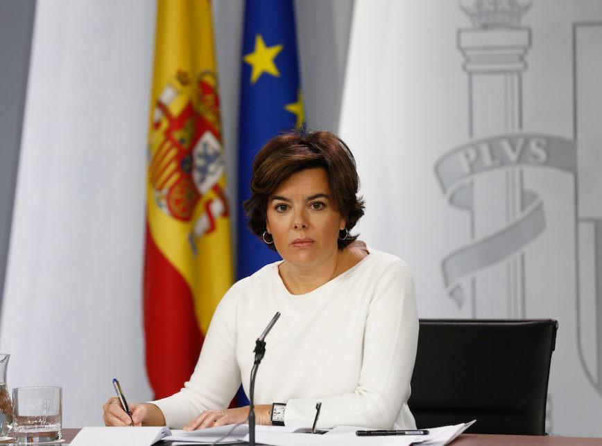 A vice-presidente do governo da Espanha, Soraya Sáenz de Santamaría