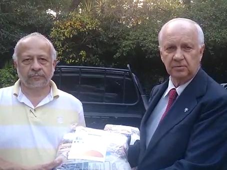 Dom Bertrand envia doações a famílias carentes afetadas pela pandemia do coronavírus