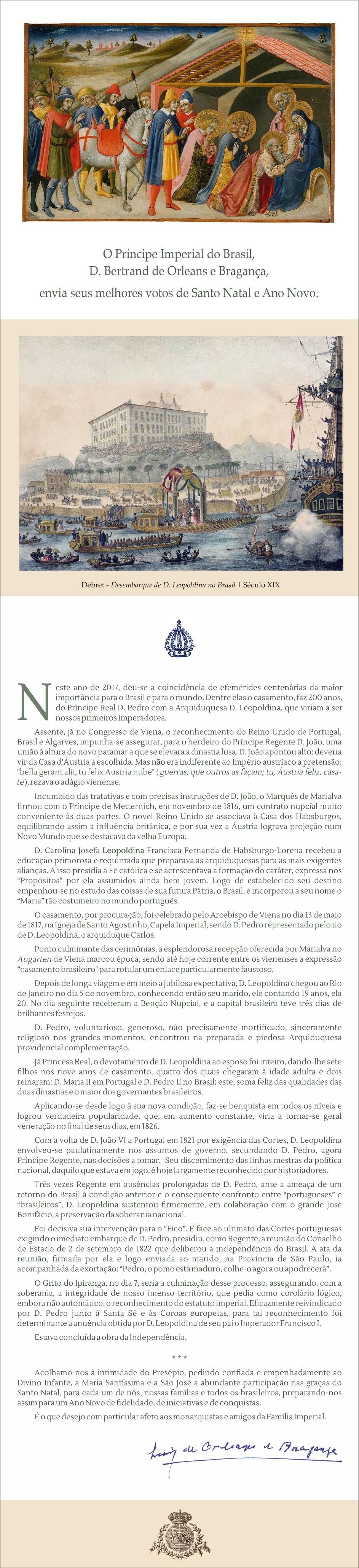 Cartão de Natal de S.A.I.R. o Príncipe Dom Luiz de Orleans e Bragança
