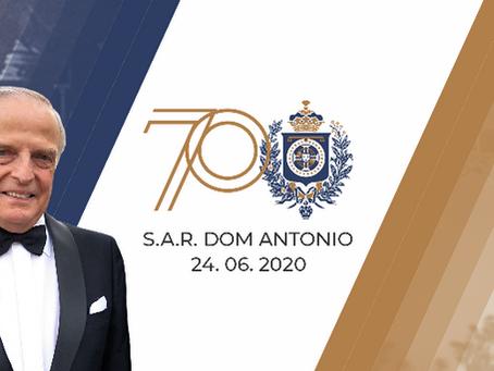 Pró Monarquia lança marca comemorativa dos 70 anos do Príncipe Dom Antonio