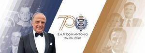 Marca comemorativa Dom Antonio de Orleans e Bragança 70 anos