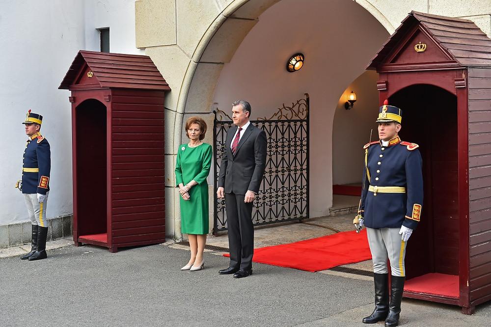 A Chefe da Casa Real da Romênia, Princesa Margarida da Romênia e seu marido, o Príncipe Radu (Silviu Matei/Agerpres Foto)
