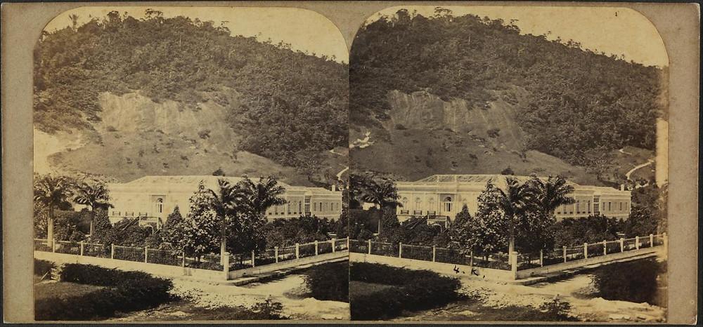 Vista geral do Paço Isabel (Reprodução/Biblioteca Nacional)