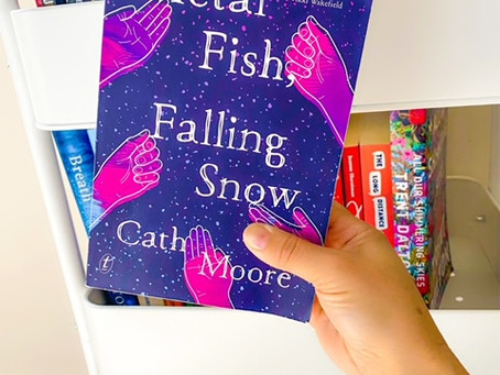 Metal Fish Falling Snow, by Cath Moore